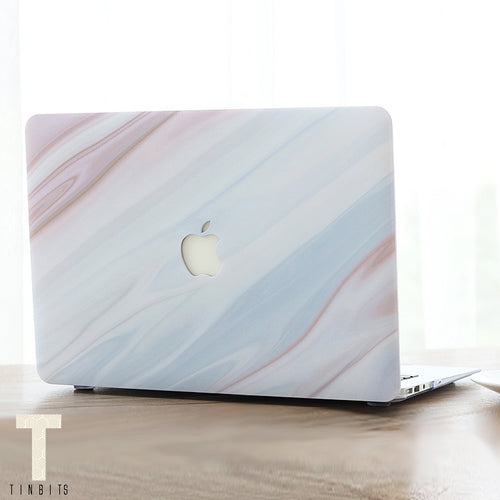 Nude Brown Marble Macbook Case