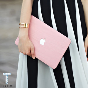 Sweet Pink Wood Macbook Case