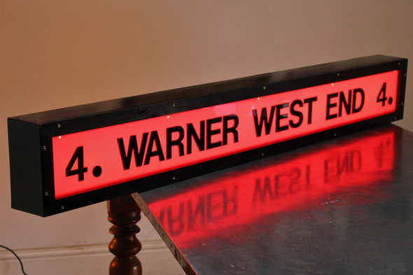 Vintage Warner West End Cinema Illuminated Sign - Screen 4