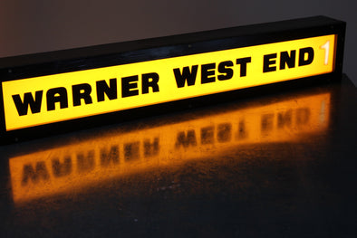 Vintage Warner West End Cinema Illuminated Sign - Screen 1