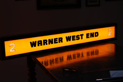 Vintage Warner West End Cinema Illuminated Sign - Screen 2