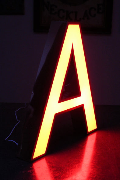 "Illuminated Shop Sign Letter ""A"""
