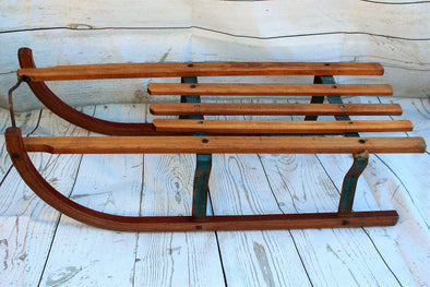 Vintage Original Wood Metal Sledge