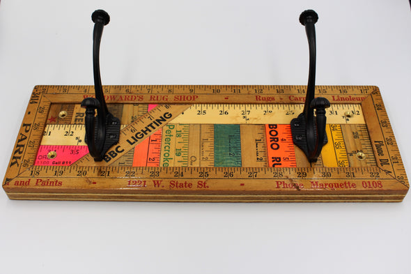 Yardstick Ruler Double Coat Hook (Medium)