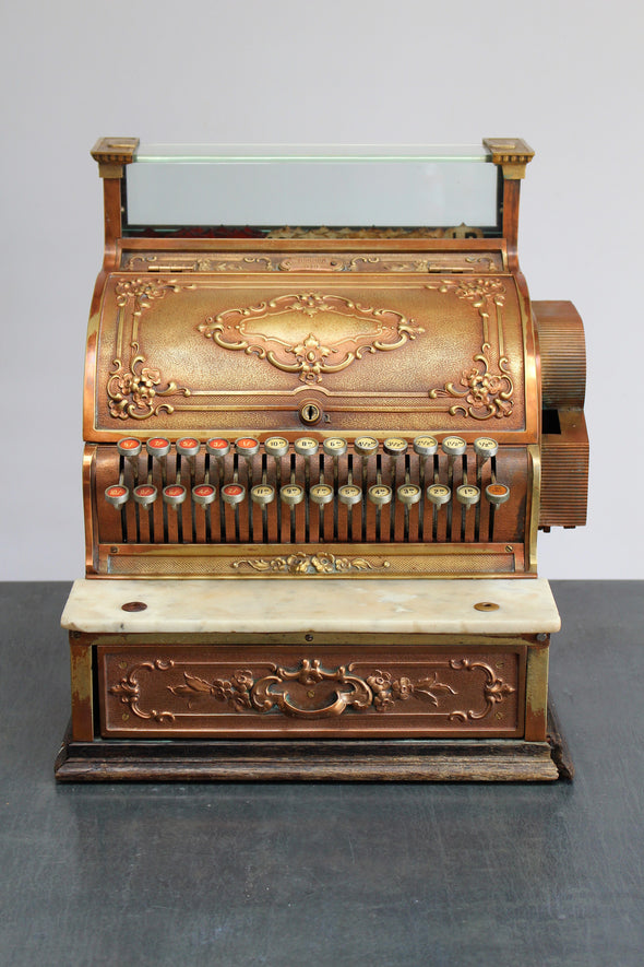 Vintage National Cash Register - Solid Brass.  Stunning!