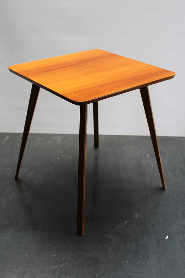 Mid Century Vintage Wood Side Table made by Druce & Co