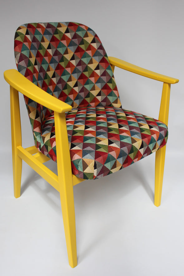 Vintage Mid Century Modern German Easy Chair Fully Renovated