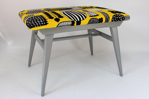 Vintage G Plan Foot Stool Refurbished in Marimekko fabric
