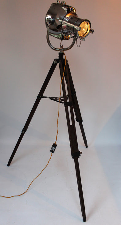 Original Vintage 1950s Strand Patt 23 Theatre Light on wood tripod