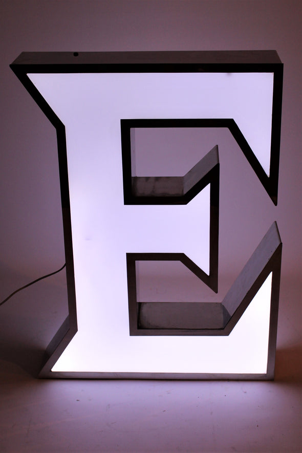 "Large Vintage Shop Sign Letter Light ""E"""