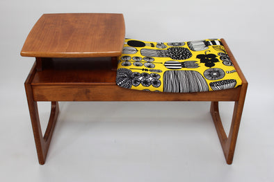 1960s Vintage Retro Telephone Table Marimekko Print
