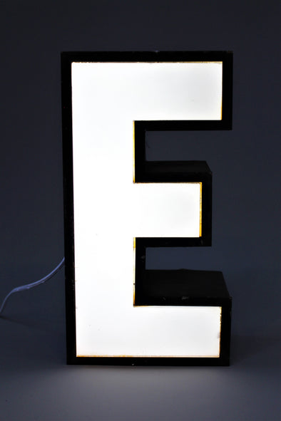 Vintage Industrial Shop Sign Letter Light E