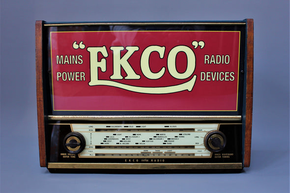 Vintage 1940s Ekco Valve Radio Converted to stunning Light Box