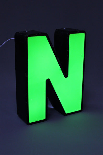 Vintage Industrial Shop Sign Letter Light N