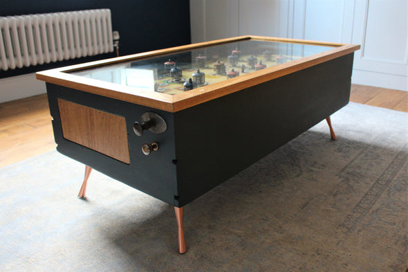 Vintage Antique 1938 Chubbie Pinball Machine converted to Coffee Table