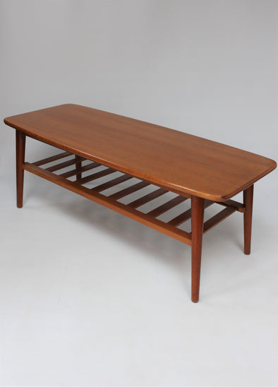 Vintage G Plan 1960s Rectangle Coffee Table with Magazine Shelf
