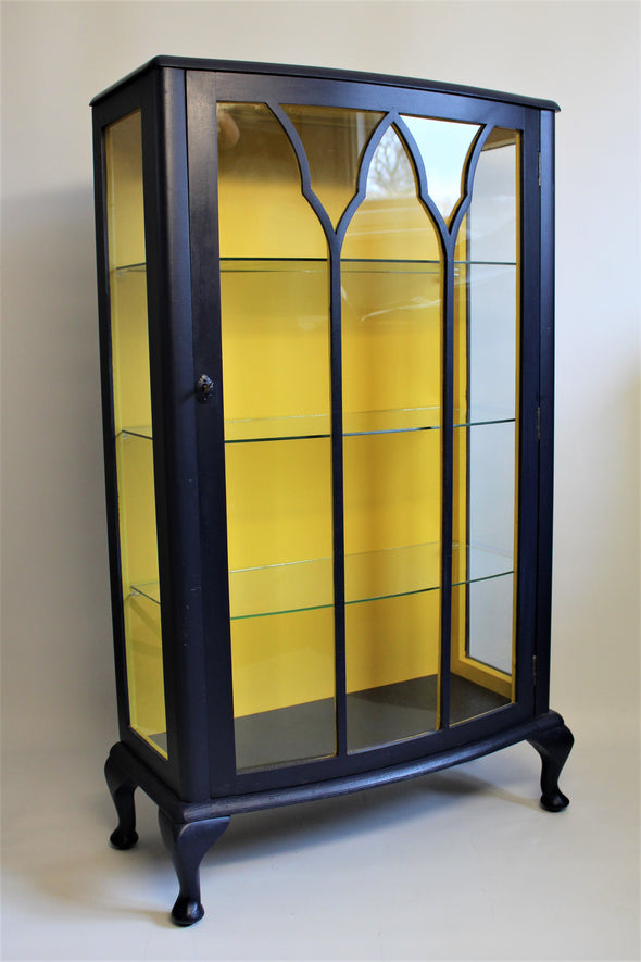 1930s Large Wood and Glass Display Cabinet Art Deco