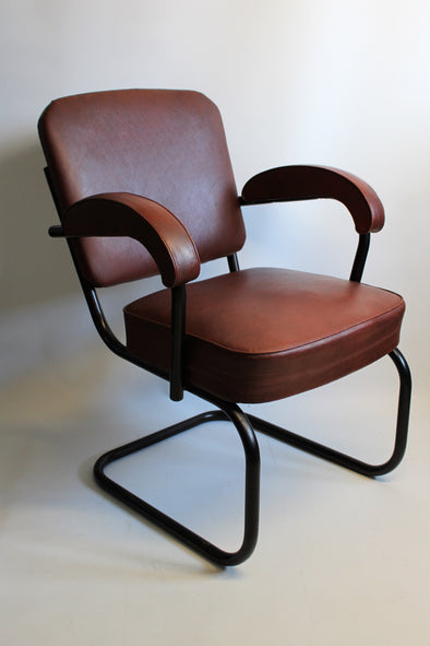 1950s Vintage Du Al Office Chair in Leatherette