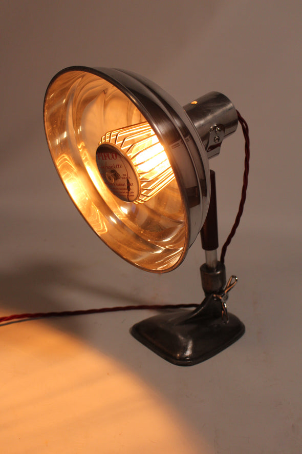 Vintage 1950s Pifco Heat Lamp converted to stylish Desk Lamp