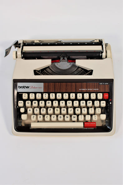Vintage Brother Deluxe Portable Typewriter 1970s
