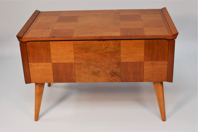 Vintage 1960s Mid Century Teak Sewing Box Table by C Arnold