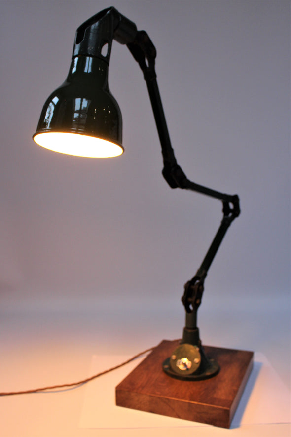 1930s Industrial Task Lamp by Mek Elek