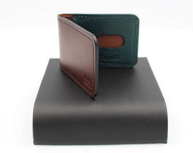 Handcrafted Veg Tanned Leather Minimalist Card Holder Wallet Travel Pass Holder Personalisation Option