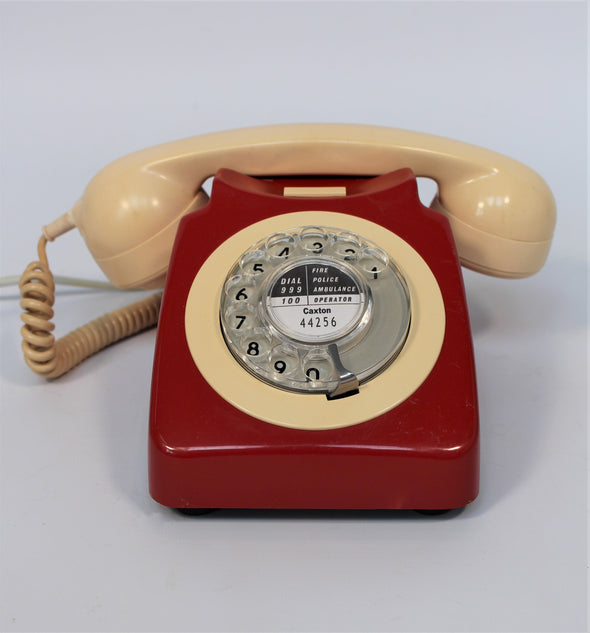 Vintage 1970s GPO 746F Red and Cream Telephone in full working order
