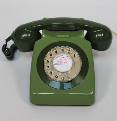 Vintage 1970s GPO 746F Green Telephone in full working order