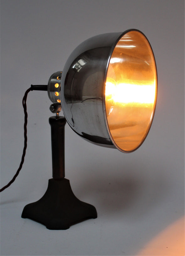 Rare 1930s Arore Heat Lamp converted to Stunning Desk Lamp