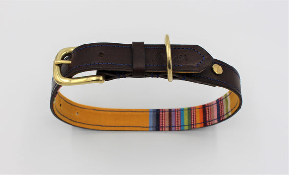 Personalised Leather Dog Collar Handmade Regents Park