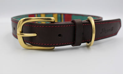 Personalised Leather Dog Collar Handmade Grenwich Park