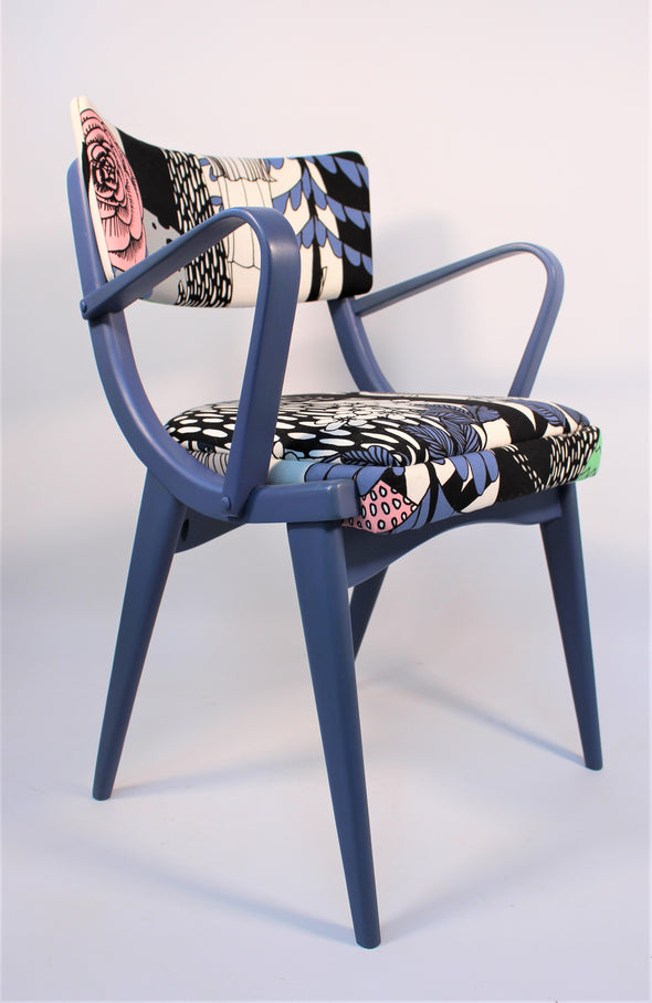 Stunning Vintage Ben Chair in Marimekko fabric - Fully Refurbished