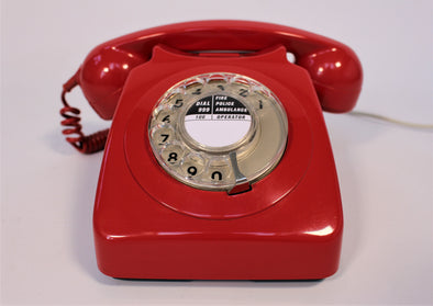 Vintage 1970s GPO 746F Red Telephone in full working order