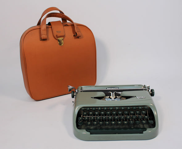 Vintage Green Royal Typewriter in full working order
