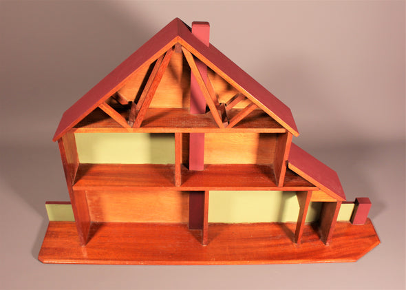 Vintage Wall Display Unit - Wooden Scandinavian House
