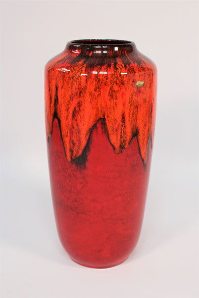 Stunning! Large Vintage Fat Lava Vase - West Germany