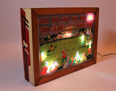 Vintage 1930s Light Box Pinball Machine Art