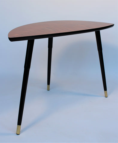 Vintage 1970s Little Side Coffee Table - Leaf Shape
