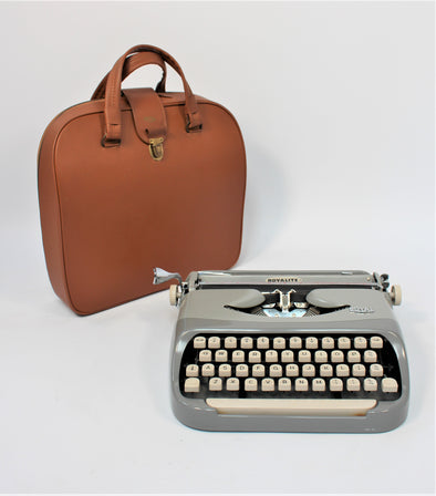 Vintage Grey Royal Royalite Typewriter in full working order