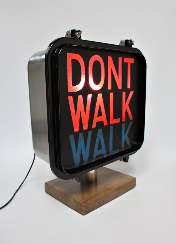 "Vintage Original American  ""Walk/Don't Walk"" Traffic Light Signal - Refurbished"
