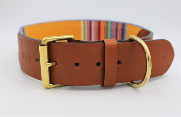 Extra Large Kangal St Bernard Leather and Canvas Dog Collar