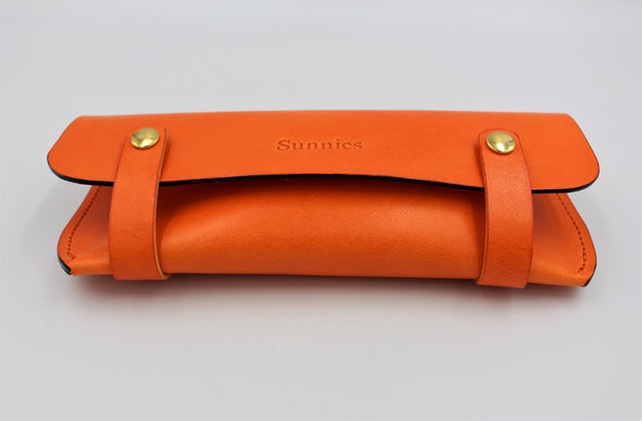 Personalised Leather Sunglasses Case with choice of colours