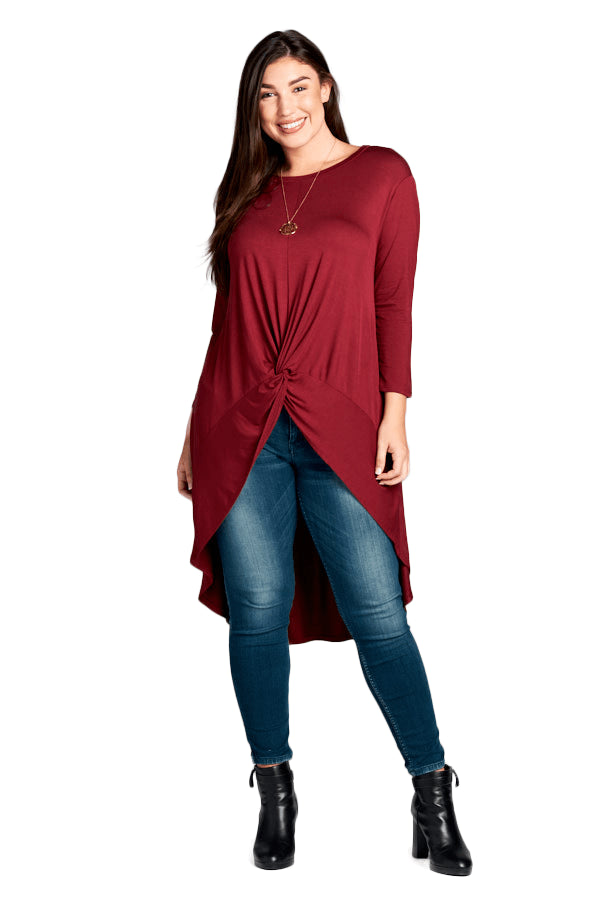 plus size Blouse & Shirt aa. Farrah Top - Burgundy