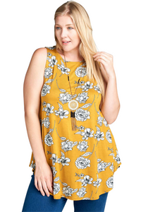 plus size Blouse & Shirt aa. Ivy Sleeveless Top - Mustard