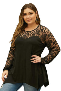 plus size Blouse & Shirt aa. Reina Top - Black