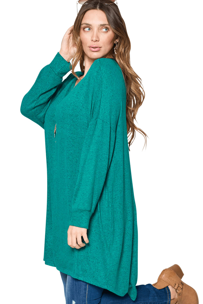 plus size Blouse & Shirt aa. Sabrina Tunic Top - Green