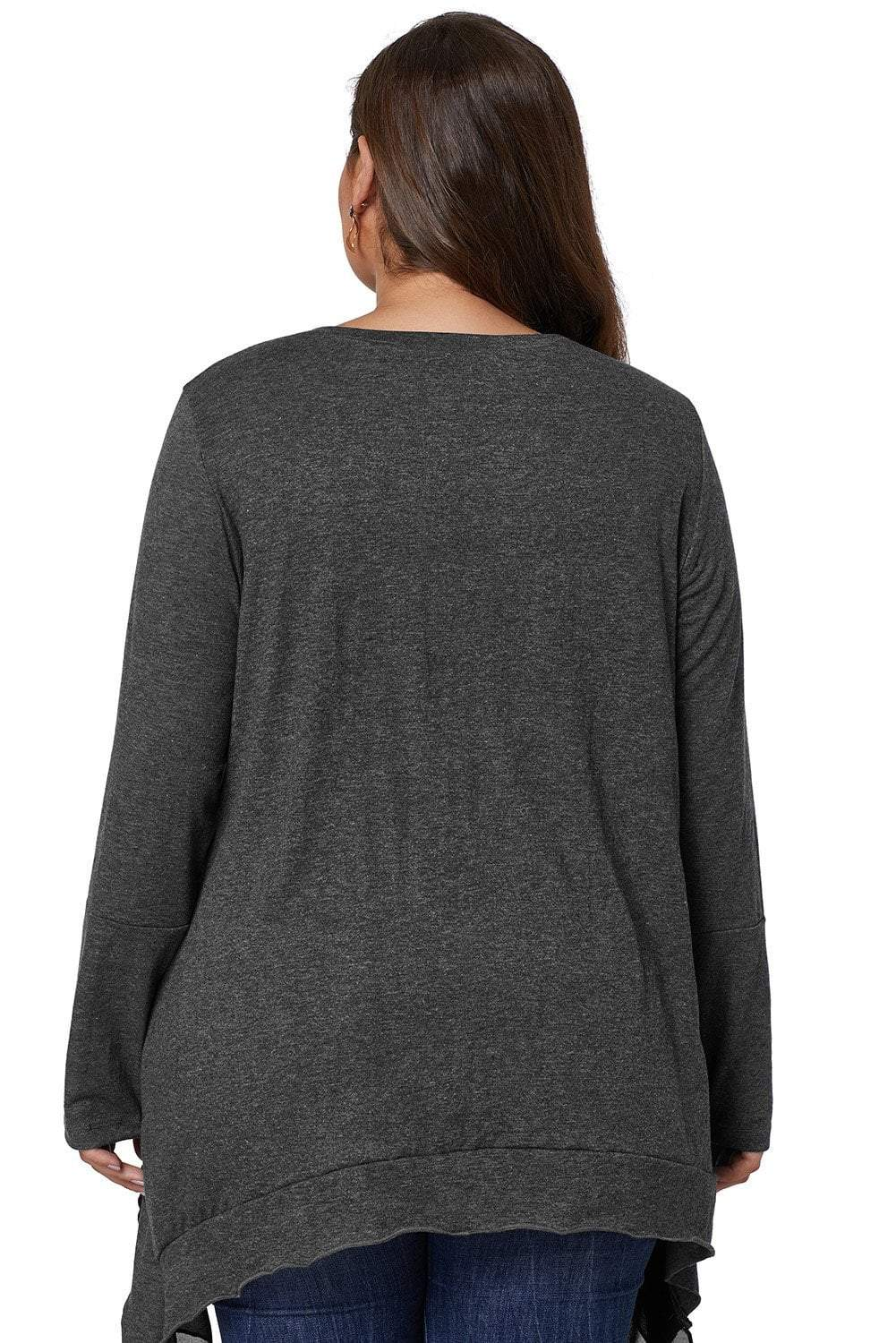 plus size Blouse & Shirt Daphne Top - Charcoal