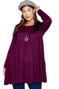 plus size Blouse & Shirt Florence Babydoll Top