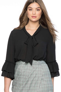 plus size Blouse & Shirt XL / AUS 14 - 16 / Black Reina Blouse